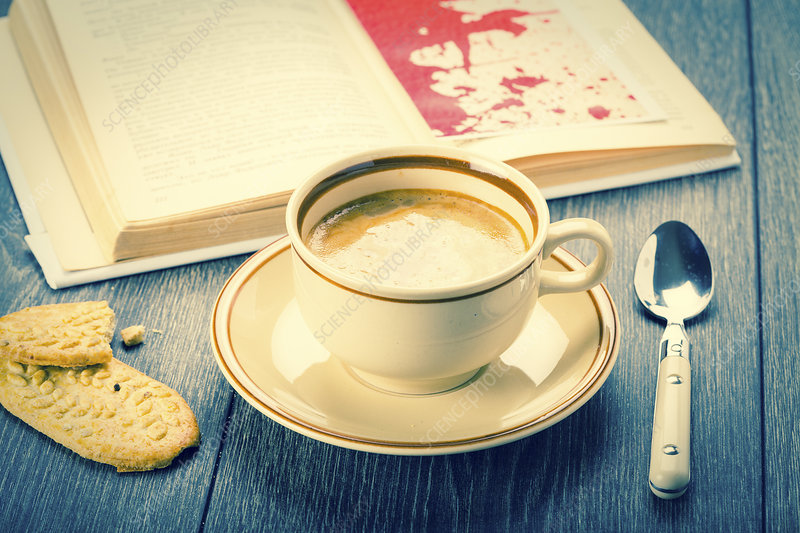 Coffee and biscuits, still life