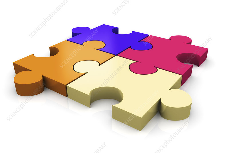 Jigsaw puzzle, illustration
