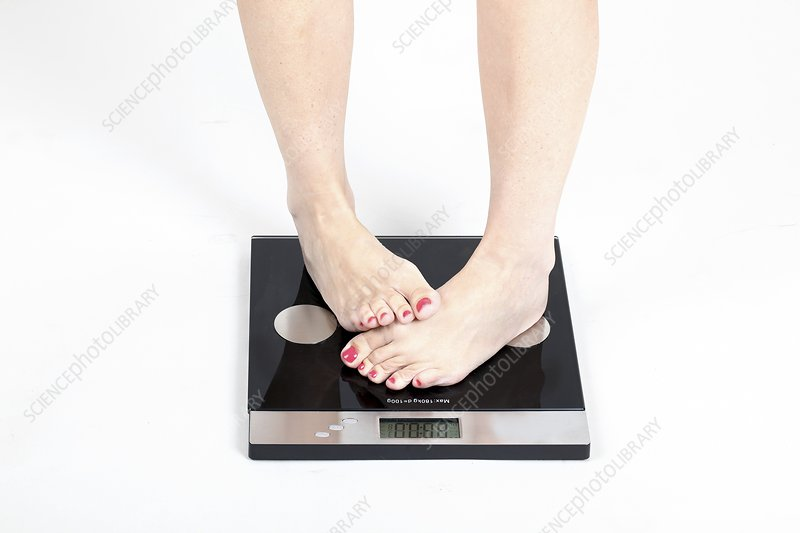Woman's feet on scale