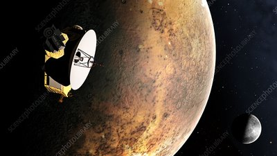 Artwork of New Horizons Mission