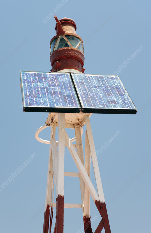 Solar powered harbour light