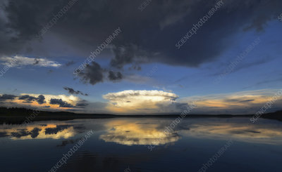 Clouds reflected in Kenosee lake