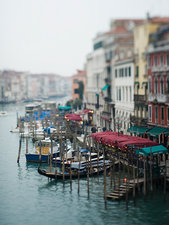 Wide canal in Venice