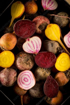 Fresh beetroot and red onions