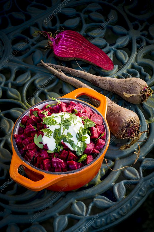 Beetroot with a garnish
