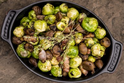 Brussels sprouts in dish