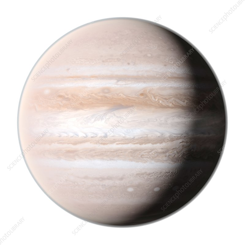 Planet jupiter, illustration