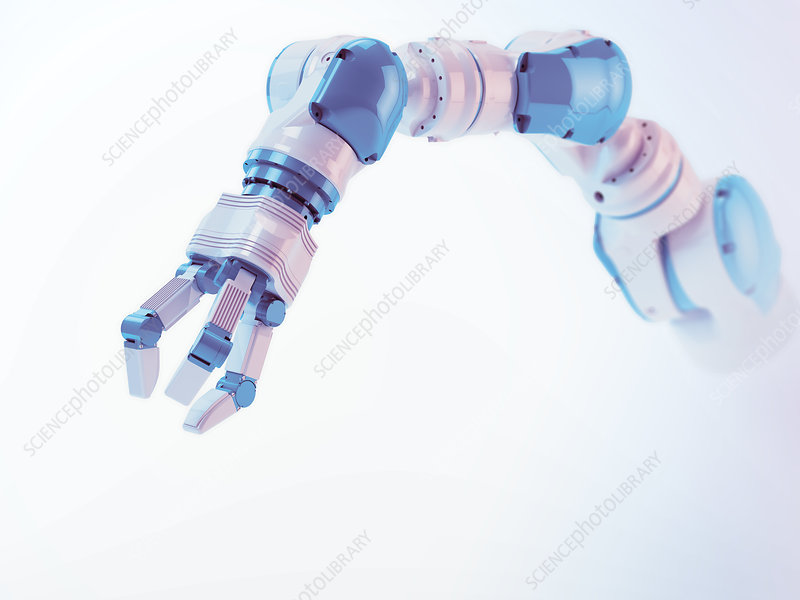 Robotic arm, illustration