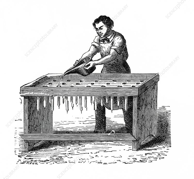 Candle maker, illustration