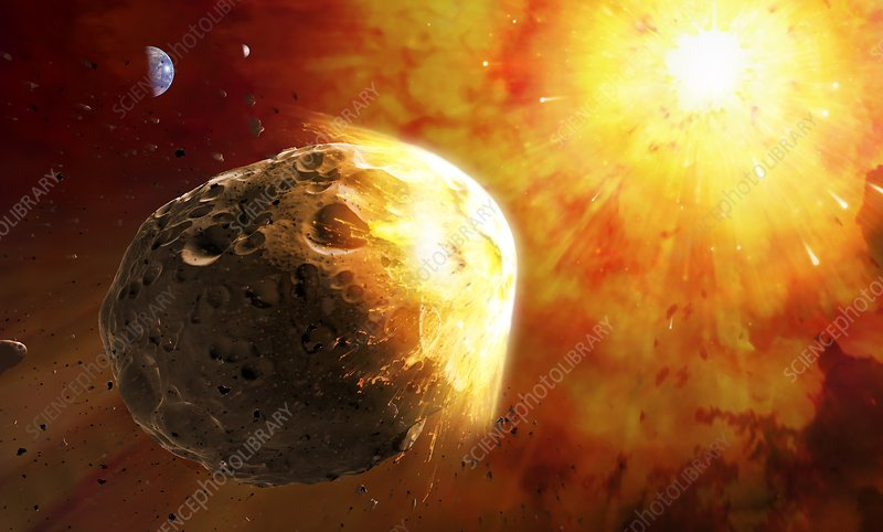 Deflecting a near-Earth Asteroid