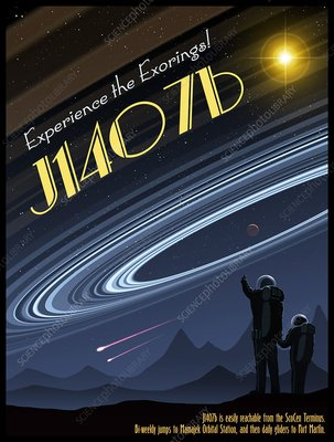 Exoring J1407B - Travel Poster