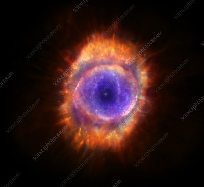 Artwork of a planetary nebula