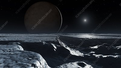 Artwork of Pluto Seen from Charon