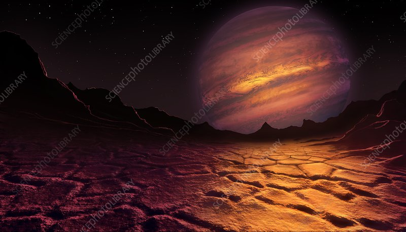 Artwork of brown dwarf seen from a planet