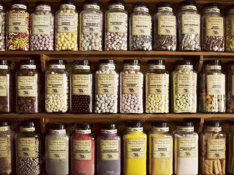 Traditional sweets in jars