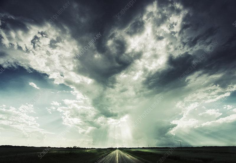 A road reaching towards the horizon