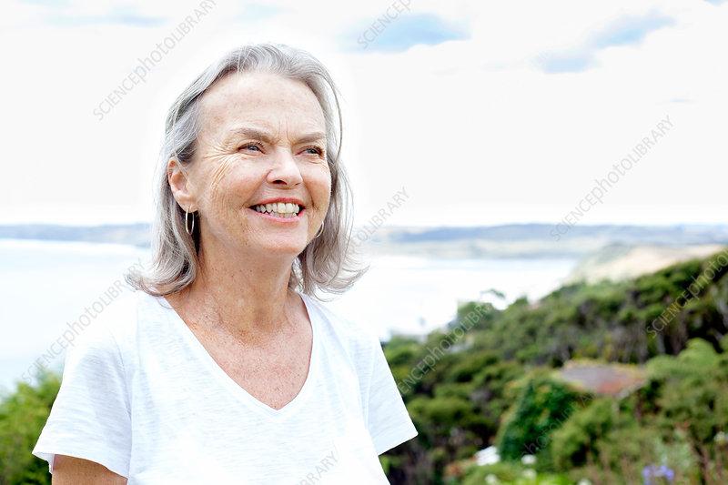 Senior woman, Raglan, New Zealand