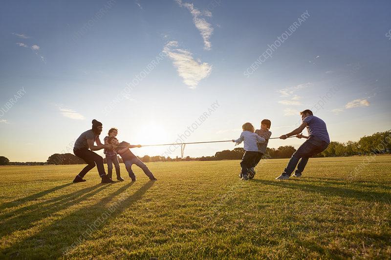 Family enjoying outdoor activities