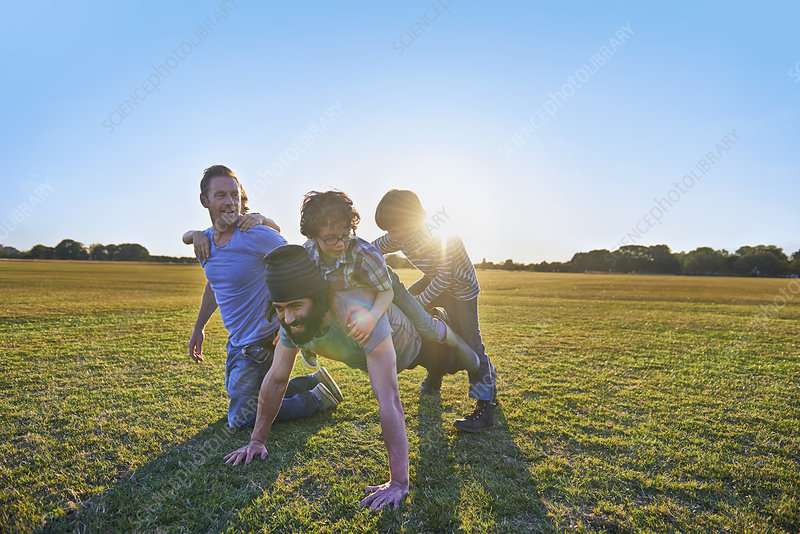Family enjoying outdoor activities