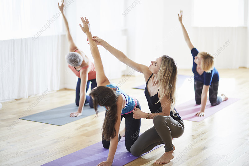 Women in pilates class