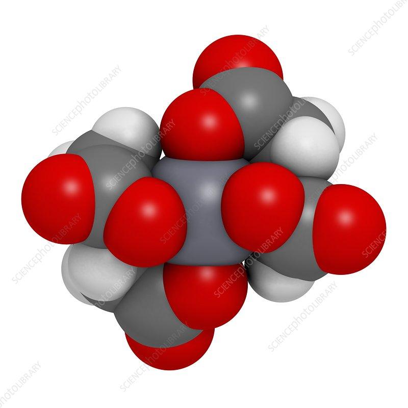 Calcium edetate drug molecule - Stock Image F011/9800 ...