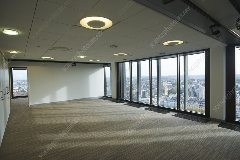 Empty skyscraper office interior