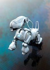 Robotic dog, illustration