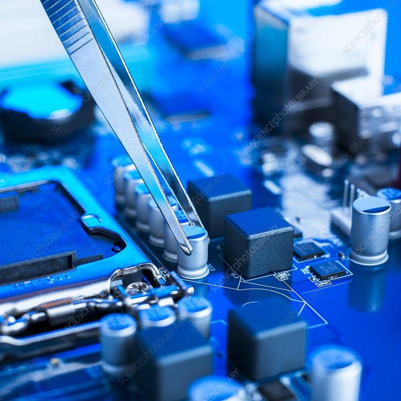 Tweezers and computer components