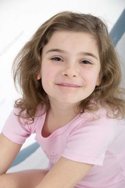 Girl smiling towards camera