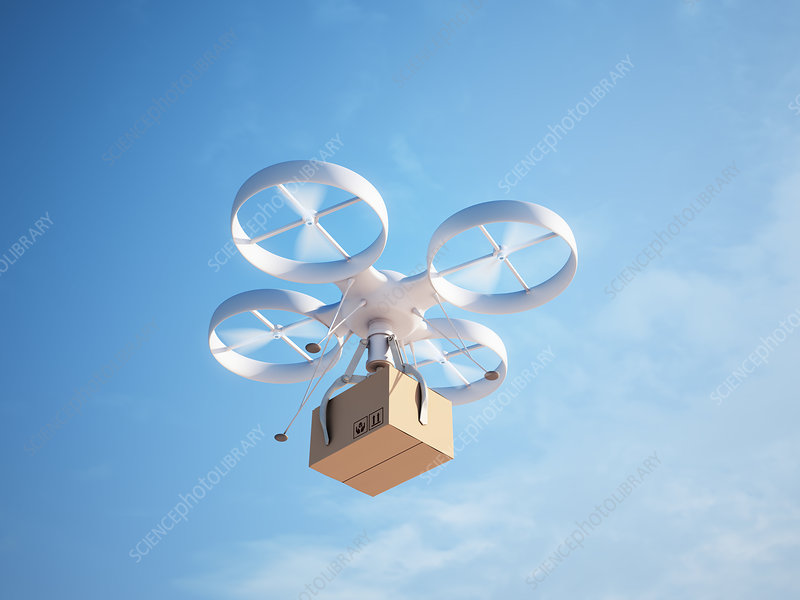 Quadcopter drone, illustration
