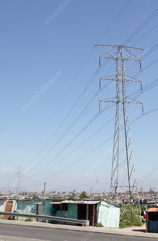 Electricity pylons, Cape Town