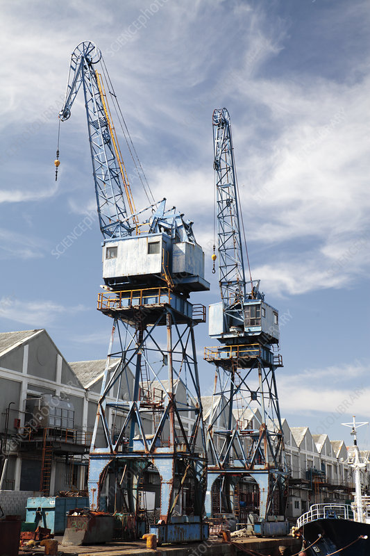 Cranes at docks, Cape Town