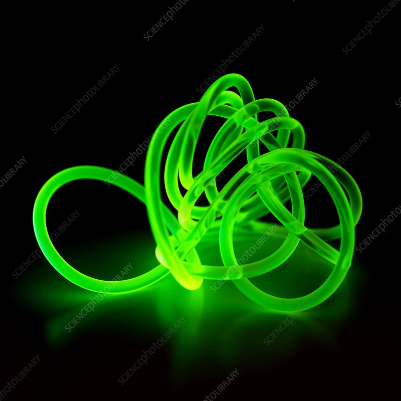 Green coloured glowing cable