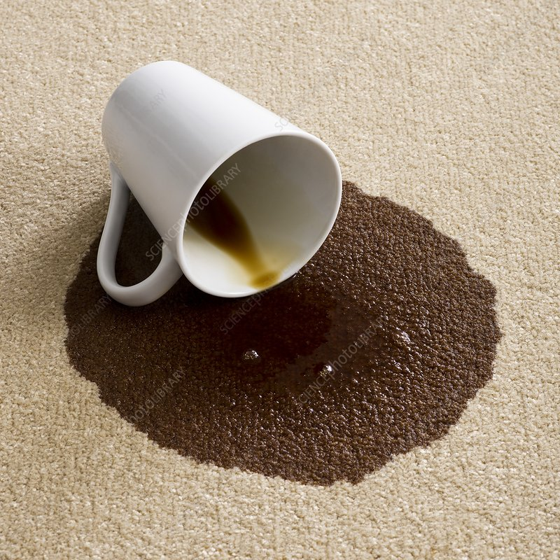 Coffee on carpet