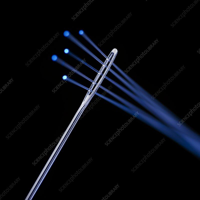 Fibre optics and needle