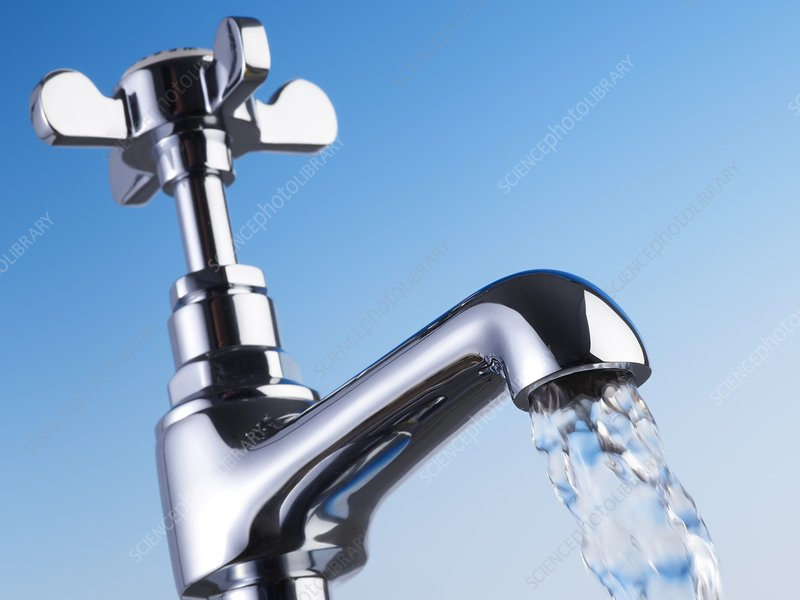 Tap and flowing water