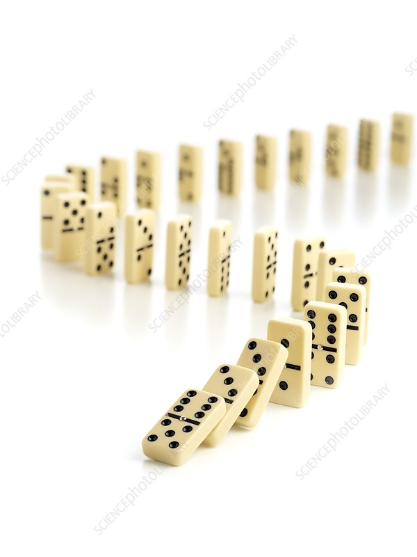 Dominoes falling down