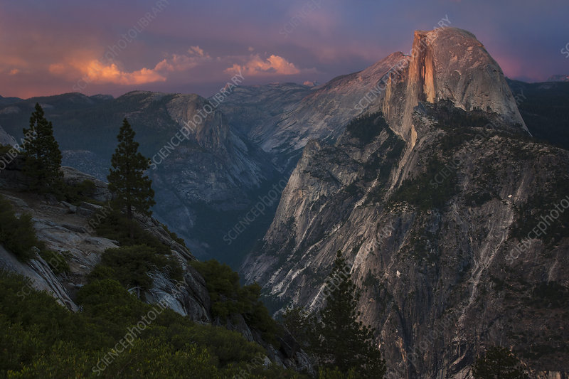 Half Dome in Yosemite Valley California