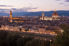 Florence city at dusk