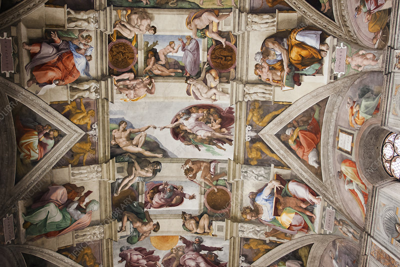 The ceiling, Sistine Chapel, Rome