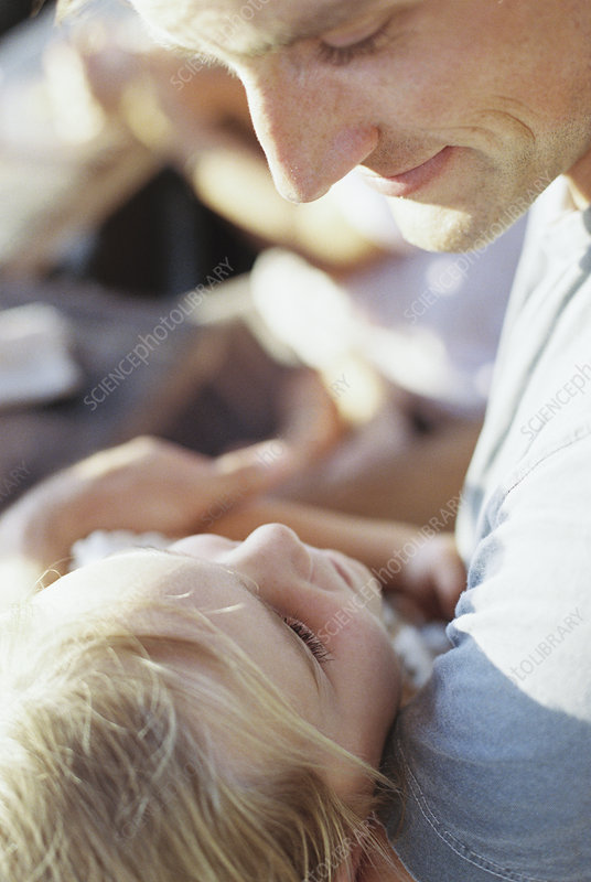 Man spending time with his daughter