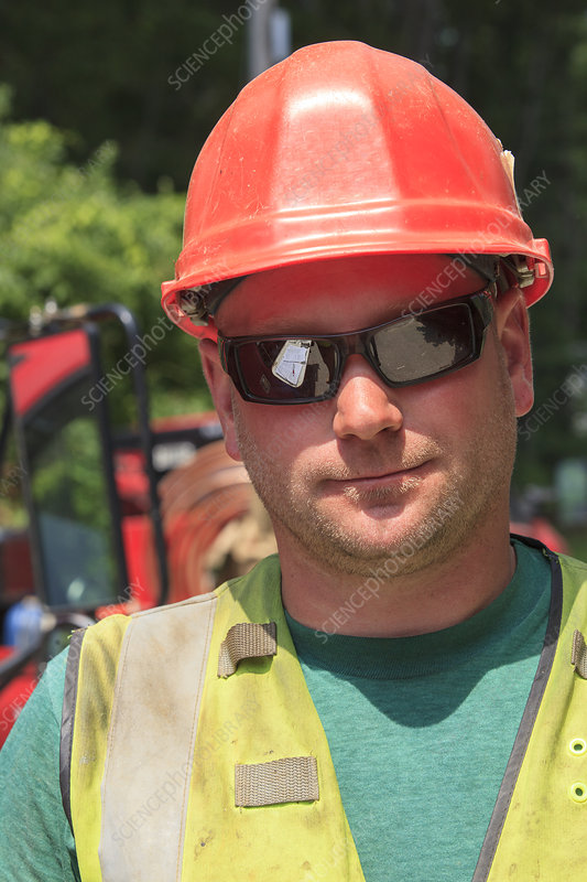 Construction worker on project site