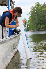 Engineer checking water quality turbidity