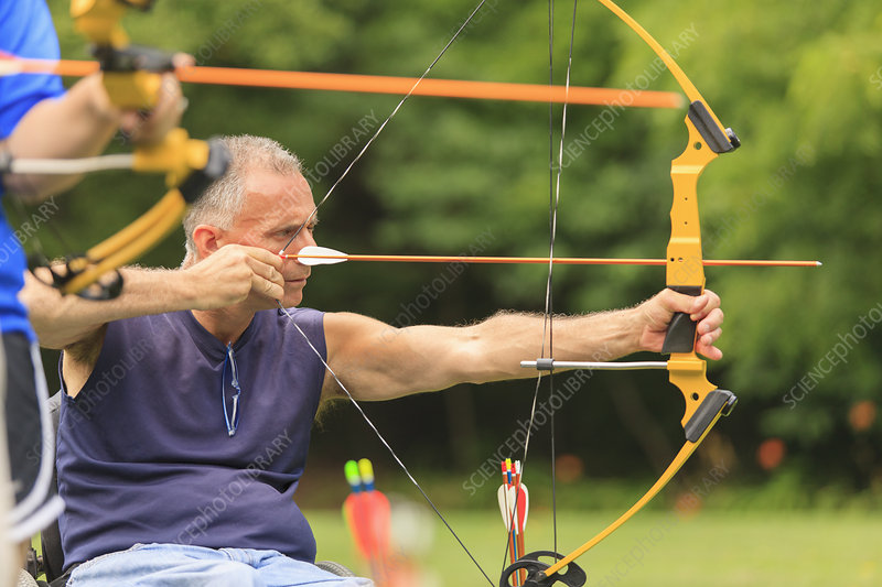People with disability: archery practice