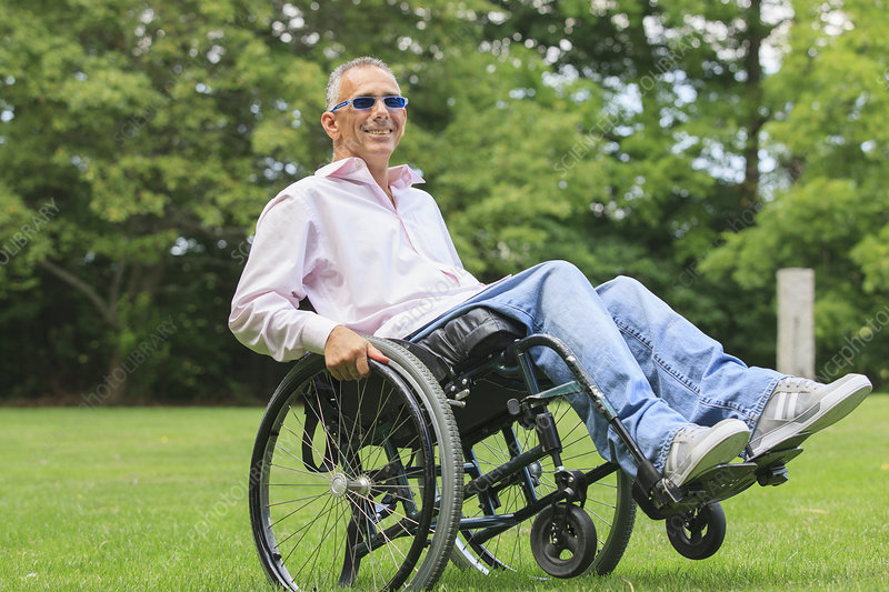 Portrait of a man in a wheelchair