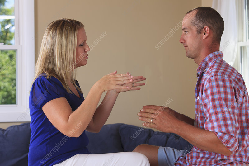 Husband and wife with hearing impairments