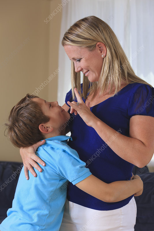 Mother and sons with hearing impairments