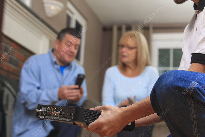 Home owners learning to use the remote