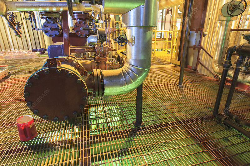 Acid mixing area of power plant