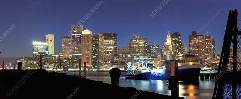 View of Boston Harbour